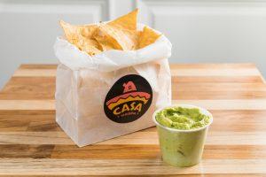 Delicious Guacamole and Chips by Casa Taqueria