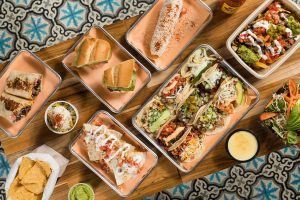 Traditional Mexican Dishes on Table in Casa Taqueria